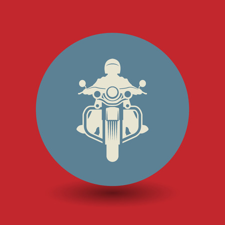 motor cycle: Motorcycle icon or sign, vector illustration