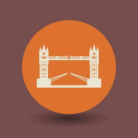 london bridge: London bridge icon or sign, vector illustration Illustration