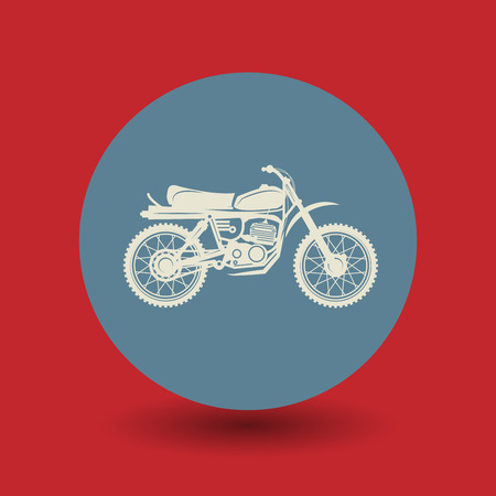 motocycle: Motorcycle icon or sign, vector illustration