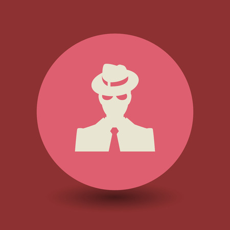gang member: Mafia icon or sign, vector illustration Illustration