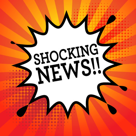 shocking: Comic book explosion with text Shocking News, vector illustration Illustration