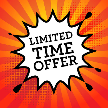 buy time: Comic book explosion with text Limited Time Offer, vector illustration Illustration