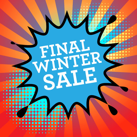 final: Comic book explosion with text Final Winter Sale, vector illustration