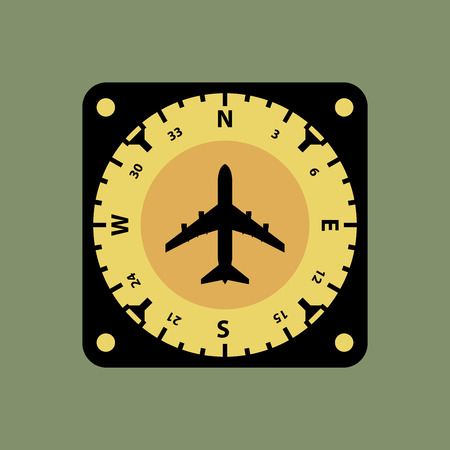 deviation: Airplane instruments icon or sign, vector illustration Illustration