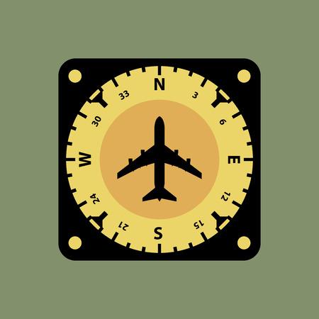 flight board: Airplane instruments icon or sign, vector illustration Illustration