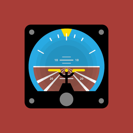 indicator board: Airplane instruments icon or sign, vector illustration Illustration