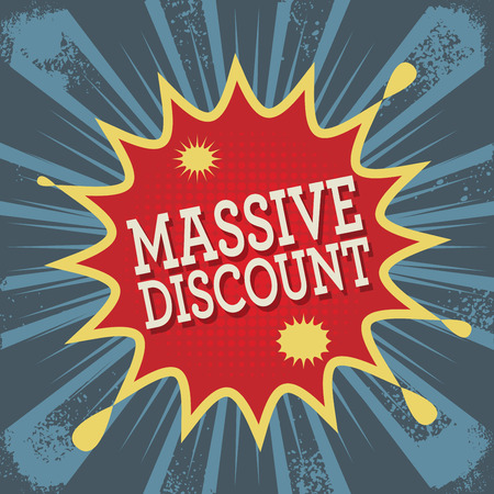 massive: Background with text Massive Discount, vector illustration