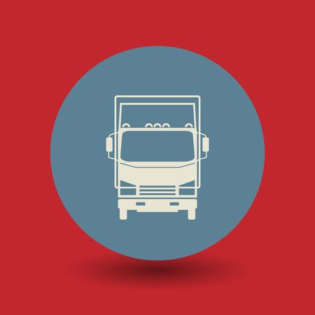 hauler: Truck icon or sign, vector illustration Illustration