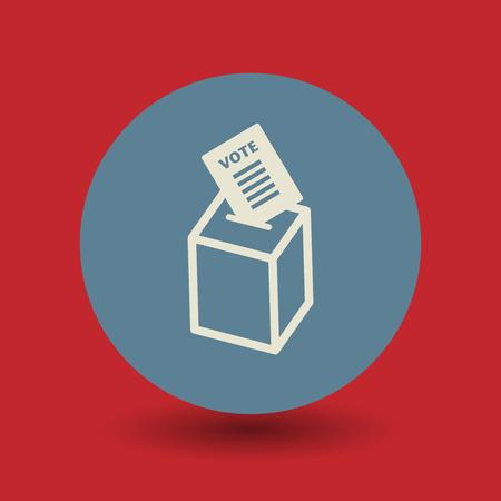 encuestando: Icono de la caja de votación o signo, ilustración vectorial Vectores