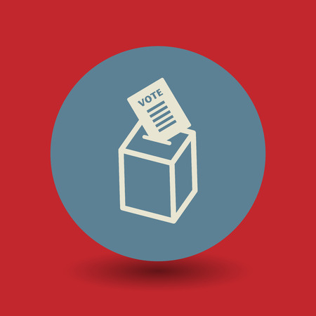 polling station: Voting box icon or sign, vector illustration Illustration