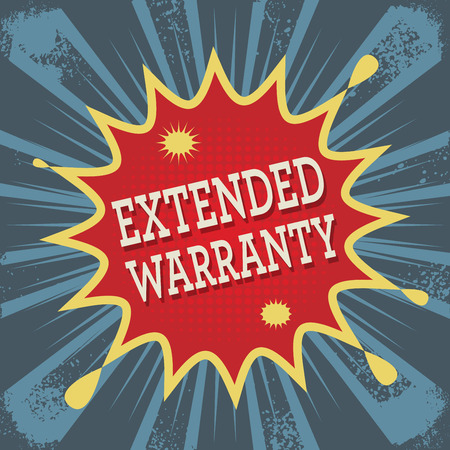 extended: Background with text Extended Warranty, vector illustration