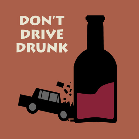 slogan: No conduzca bebido, ilustración vectorial