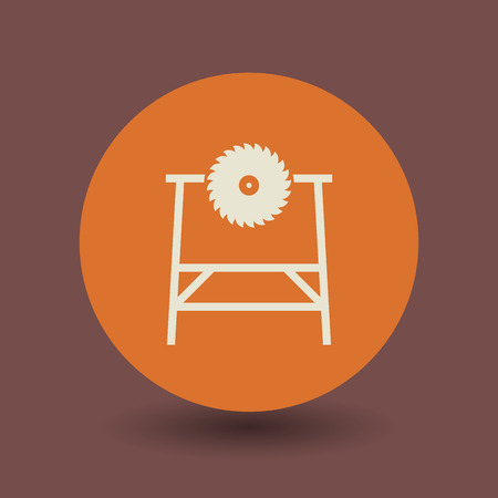 cutoff: Saw tool icon or sign, vector illustration Illustration