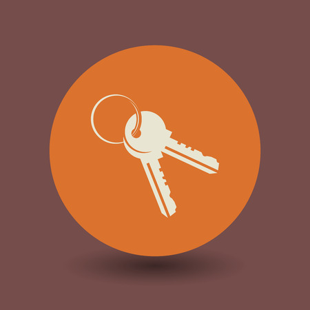 privileges: Keys icon or sign, vector illustration