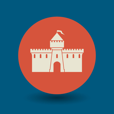loophole: Castle icon or sign, vector illustration