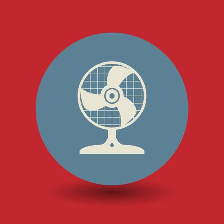 orificio nasal: Icono del ventilador o signo, ilustración vectorial