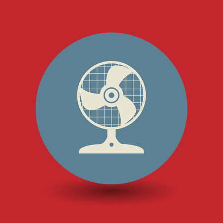 aeration: Ventilator icon or sign, vector illustration