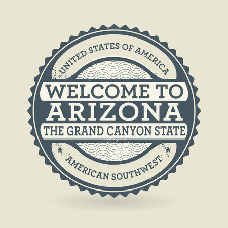 Grunge rubber stamp with text Welcome to Arizona, USA, vector illustration Vector