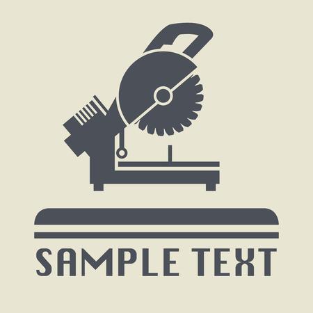 herramientas de mec�nica: Icono de la herramienta Saw o signo, ilustraci�n vectorial