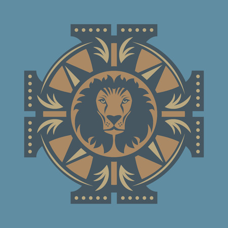Lion symbol, vector illustration Vector