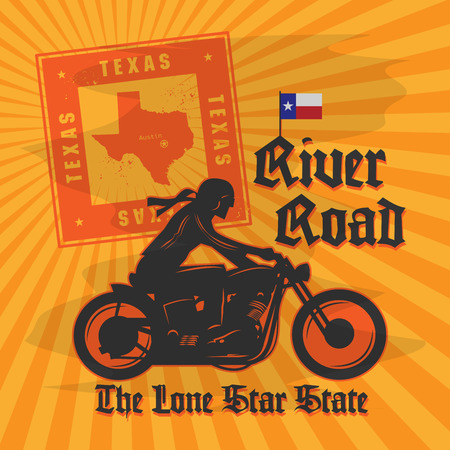 Vintage Motorcycle adventure poster, vector illustration Vector