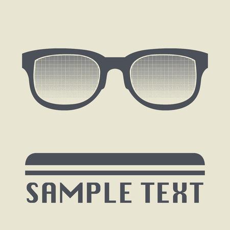 wayfarer: Glasses icon or sign, vector illustration