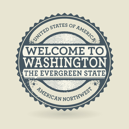 Grunge rubber stamp with text Welcome to Washington, USA, vector illustration
