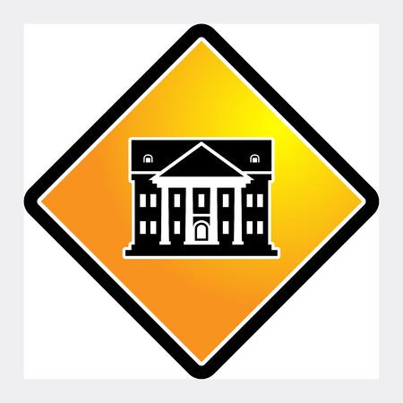 governmental: Architecture sign, vector illustration Illustration