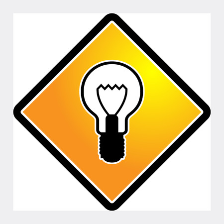 Light bulb icon or sign, vector illustration Vector