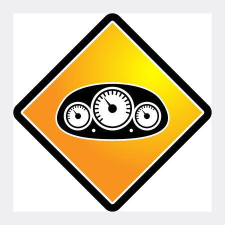 rev counter: Car instruments icon or sign, vector illustration