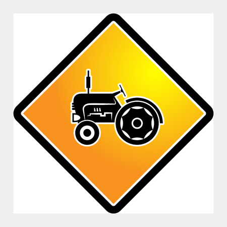tractor sign: Tractor sign, vector illustration