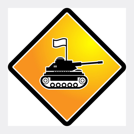 wartime: Panzer sign, vector illustration
