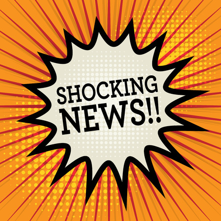shocking: Comic explosion with text Shocking News, vector illustration
