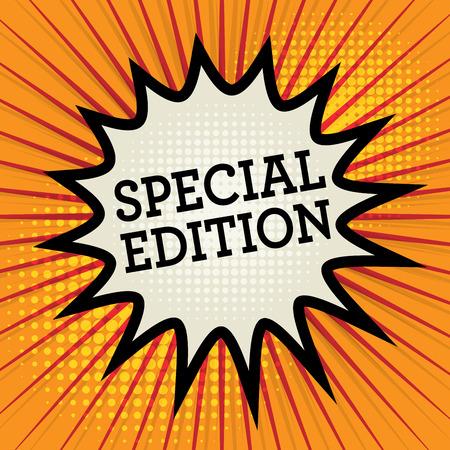 edizione straordinaria: Esplosione Comic con testo Special Edition, illustrazione vettoriale