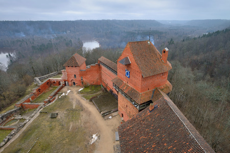 reconstructed: Turaida Castle is a recently reconstructed medieval castle in Turaida, in the Vidzeme region of Latvia, on the opposite bank of the Gauja River from Sigulda.