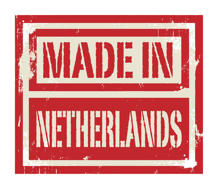 made in netherlands: Abstract stamp or label with text Made in Netherlands, vector illustration Illustration