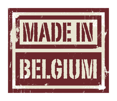 made in belgium: Abstract stamp or label with text Made in Belgium, vector illustration Illustration