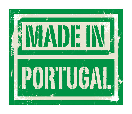 made in portugal: Abstract stamp or label with text Made in Portugal, vector illustration