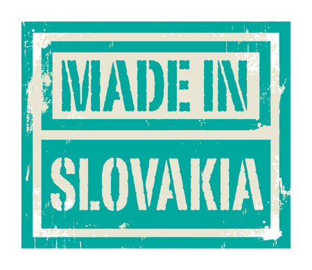 slovakian: Abstract stamp or label with text Made in Slovakia, vector illustration Illustration