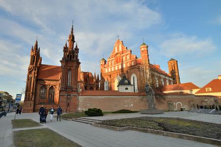 vilnius: VILNIUS, LITHUANIA - MARCH 18: Vilnius St Anne