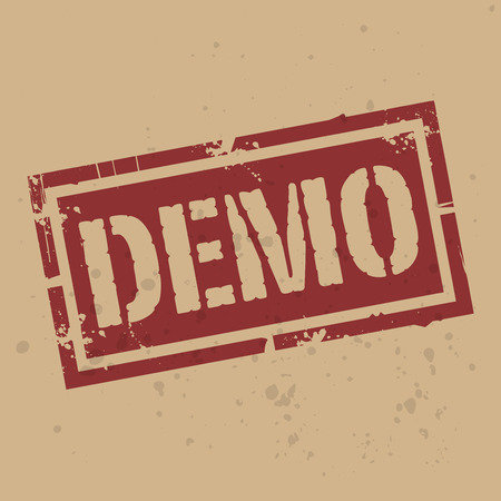 freeware: Abstract stamp or label with text Demo, vector illustration Illustration