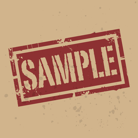 text sample: Abstract stamp or label with text Sample, vector illustration