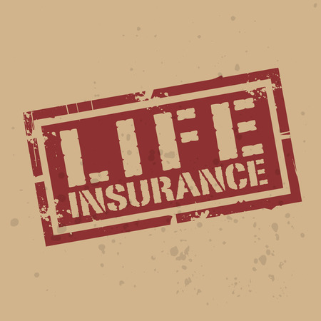 life insurance: Abstract stamp or label with text Life Insurance, vector illustration