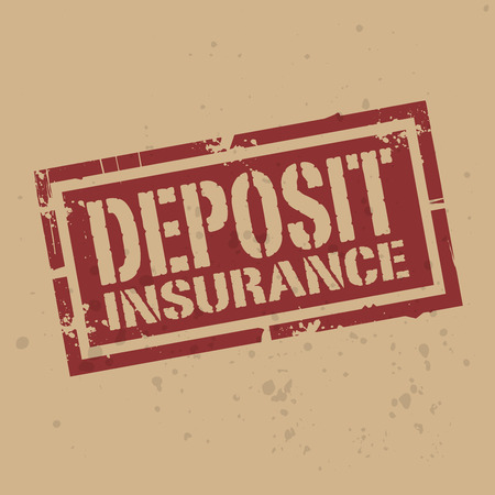 claims: Abstract stamp or label with text Deposit Insurance, vector illustration