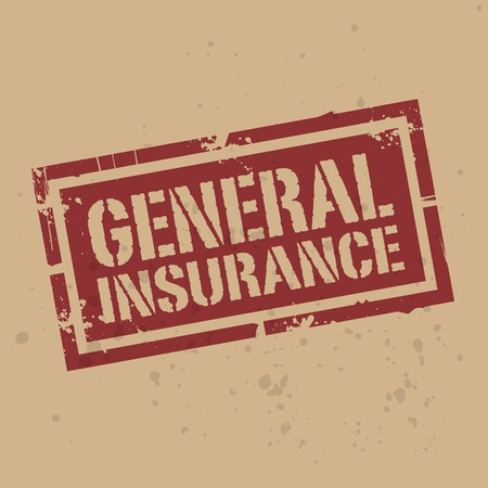general: Abstract stamp or label with text General Insurance, vector illustration Illustration