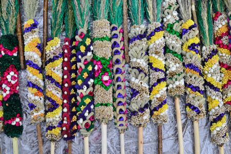 sunday market: VILNIUS, LITHUANIA - MARCH 29: Traditional lithuanian palm bouquets on Palm Sunday fair on March 29, 2015 in Vilnius, Lithuania. Editorial