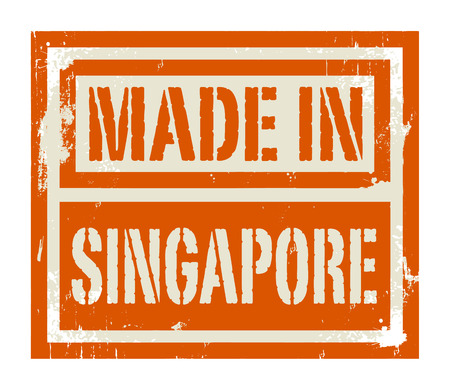 Abstract stamp or label with text Made in Singapore Vector