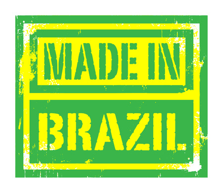 Abstract stamp or label with text Made in Brazil Vector