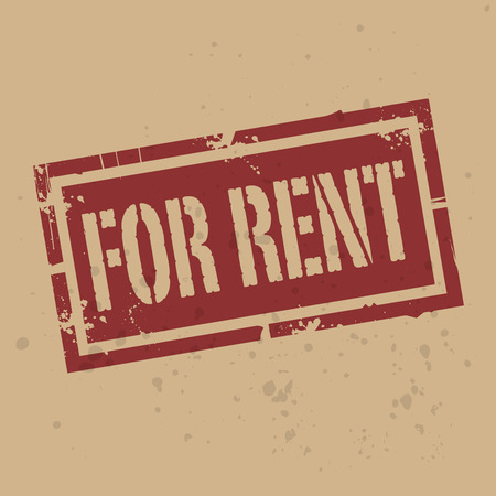 car rent: Abstract stamp or label with text For Rent