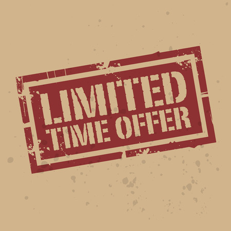 limited time: Abstract stamp or label with text Limited Time Offer